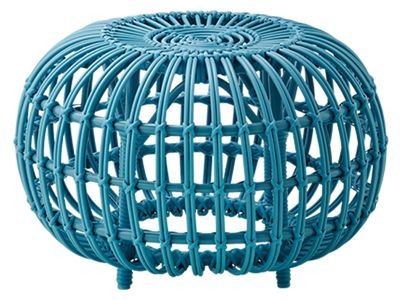 Sika Design EXTERIOR Ottoman Ø 55 cm, Alurattan Blau