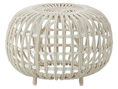Sika Design EXTERIOR Ottoman Ø 55 cm, Alurattan Dove White