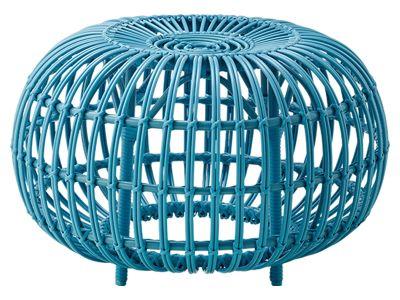 Sika Design EXTERIOR Ottoman Ø 65 cm, Alurattan Blau