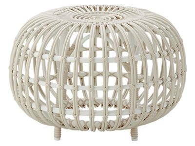 Sika Design EXTERIOR, Ottoman Ø 65 cm, Alurattan Dove White