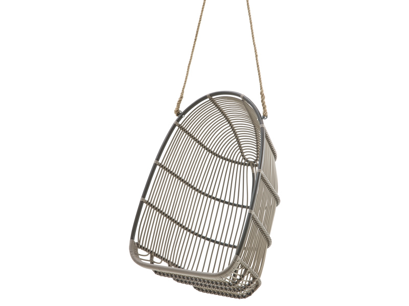 Sika Design EXTERIOR Renoir Swing Sessel, Mocaccino, Alurattan