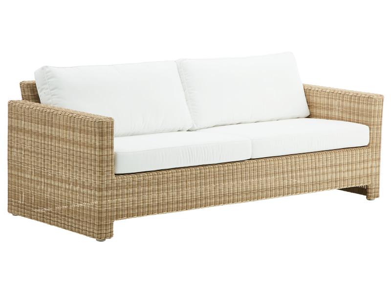 Exterior Sixty 3 Sitzer Sofa Natural Inkl Kissen Alurattan