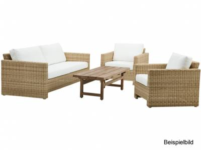 Sika Design EXTERIOR Sixty Lounge Sessel, Natural, inkl. Kissen, Alurattan