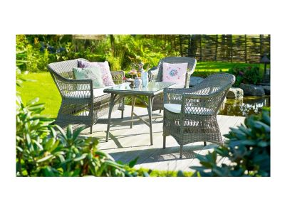 Sika Design GEORGIA GARDEN Charlot 2-Sitzer Gartensofa, antik-braun