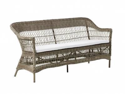 Sika Design GEORGIA GARDEN Charlot 3-Sitzer Gartensofa, antik-braun