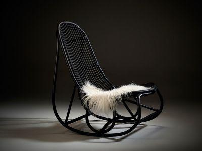Sika Design ICONS, Nanny Schaukelstuhl (black) - Designed by Nanna Ditzel