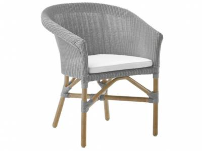 Sika Design Loom Living Abbey Essstuhl, Light Grey, inkl. Kissen