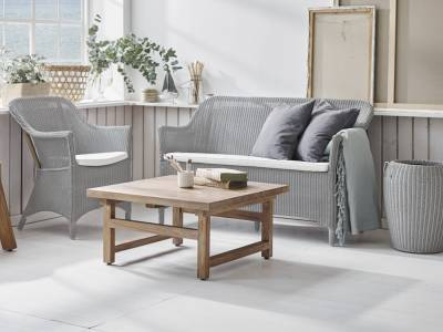 Sika Design Loom Living Charlot 2 Sitzer Sofa, Light Grey, inkl. Kissen