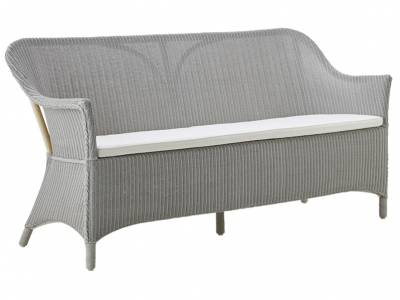 Sika Design Loom Living Charlot 3 Sitzer Sofa, Light Grey, inkl. Kissen