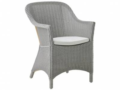 Sika Design Loom Living Charlot Stuhl, Light Grey, inkl. Kissen