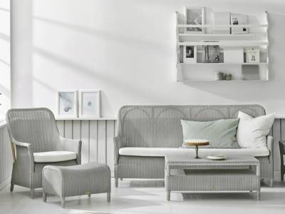 Sika Design Loom Living Dawn 3 Sitzer Sofa, Light Grey, inkl. Kissen