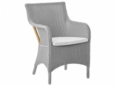 Sika Design Loom Living Marie Sessel,mit Armlehnen, Light Grey, inkl. Kissen