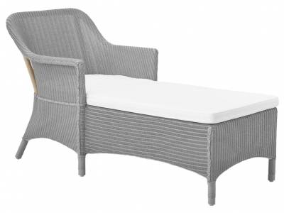 Sika Design Loom Living Olivia, Chaiselounge, Light Grey, inkl. Kissen