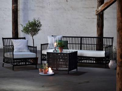 Sika Design ORIGINALS Caroline Lounge Sessel, inkl. Auflage  - Schwarz