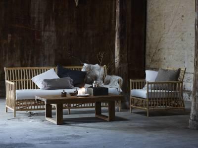 Sika Design ORIGINALS Caroline Lounge Sessel, inkl. Auflage  - Skin On Natural