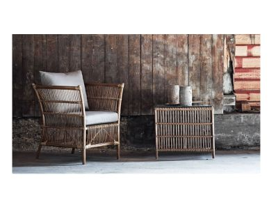 Sika Design ORIGINALS Donatello Lounge-Rattansessel, inkl. Kissen - Antique