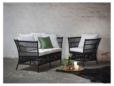 Sika Design ORIGINALS Donatello Lounge-Rattansessel - Matt Schwarz
