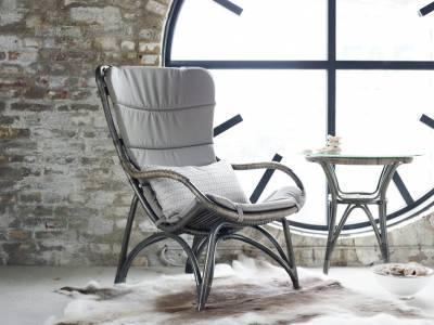 Sika Design ORIGINALS Monet Rattan Schaukelstuhl - Schwarz
