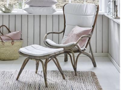 Sika Design ORIGINALS Monet Rattan Schaukelstuhl - Taupe