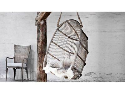 Sika Design ORIGINALS Renoir Rattanschaukel, inkl. Kissen - Taupe