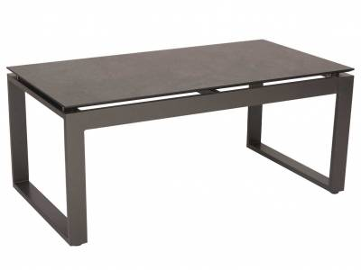 Stern Beistelltisch Allround Aluminium anthrazit mit Tischplatte Silverstar