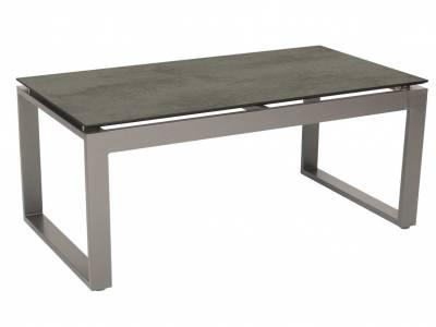 Stern Beistelltisch Allround Aluminium graphit mit Tischplatte Silverstar