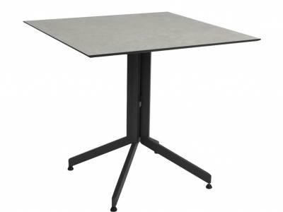 Stern Bistrotisch: Alu Tischgestell 80 cm anthrazit + freiwählbare Tischplatte