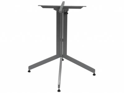 Stern Bistrotisch: Alu Tischgestell 80 cm graphit + freiwählbare Tischplatte