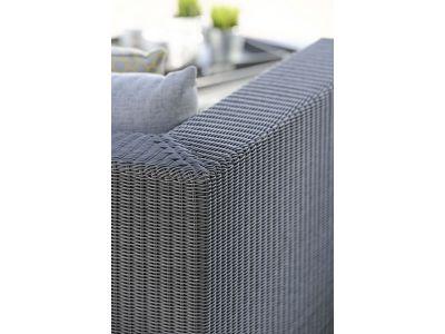 Stern FONTANA 2-Sitzer Sofa, basaltgrau inkl. Untergestell in Edelstahl