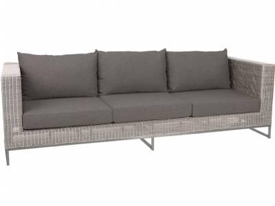 Stern FONTANA 3-Sitzer Sofa, Vintage weiß inkl. Untergestell in Aluminium weiß