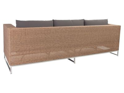 Stern FONTANA 3-Sitzer Sofa, zimt inkl. Untergestell in Edelstahl