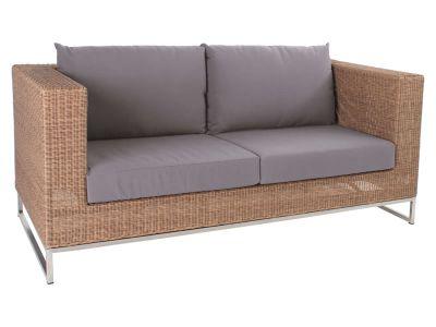Stern Fontana Dining 2-Sitzer Sofa, zimt inkl. Untergestell in Edelstahl
