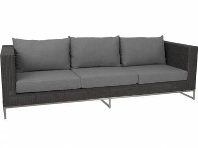 Stern Fontana Dining 3-Sitzer Sofa, basaltgrau inkl. Untergestell in Edelstahl