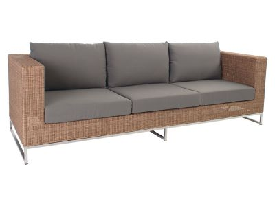 Stern Fontana Dining 3-Sitzer Sofa, zimt inkl. Untergestell in Edelstahl
