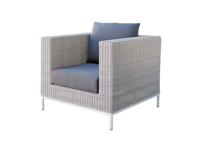 Stern Fontana Dining Sessel, Vintage weiß inkl. Untergestell in Aluminium weiß