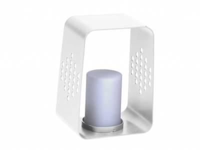 Stern Leuchte 20 x 22 x 30 cm Aluminium weiß mit LED-Einsatz