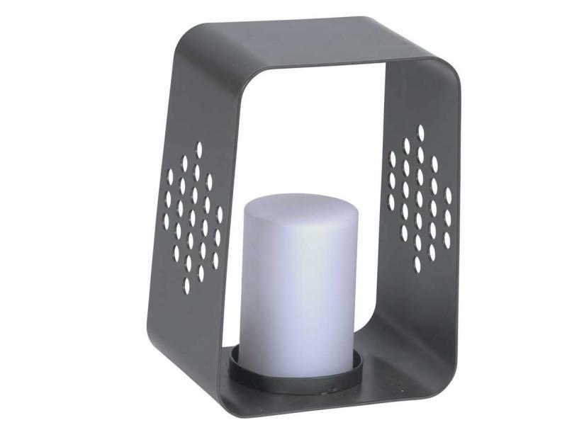 Stern Leuchte 20x22x30 cm Aluminium anthrazit mit LED-Einsatz
