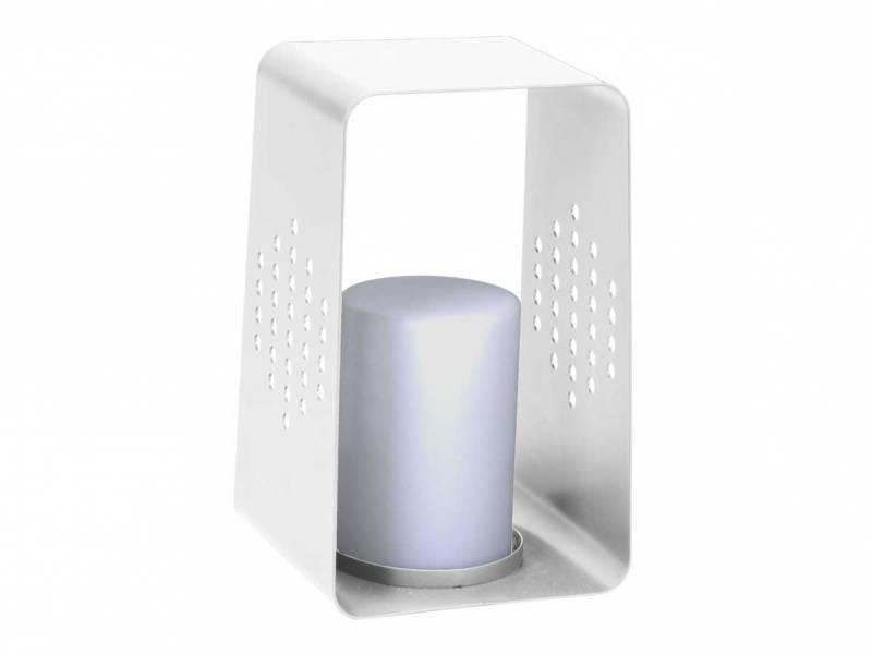 Stern Leuchte 26 x 28 x 45 cm Aluminium weiß mit LED-Einsatz