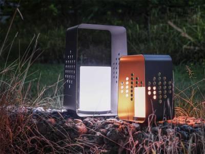 Stern Leuchte 26x28x45 cm Aluminium anthrazit mit LED-Einsatz