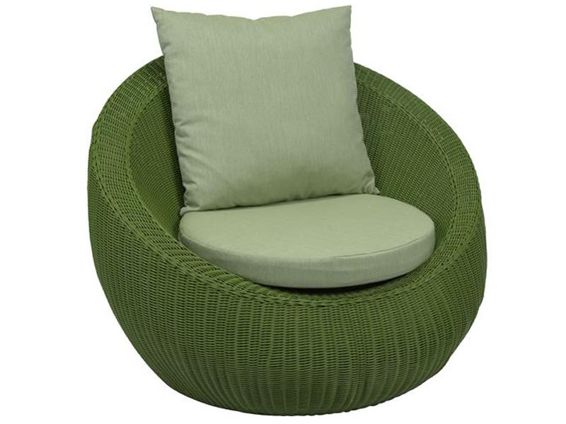 Stern Loungesessel Anny Geflecht grün