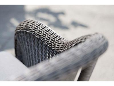 Stern MINEO Sessel mit Hocker, basaltgrau