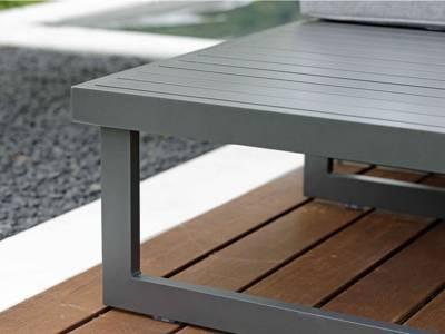 Stern New Holly Beistelltisch/Fußhocker Aluminium graphit