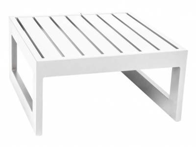 Stern New Holly Dining Aluminium Beistelltisch/Hocker 72x72x38 cm weiß