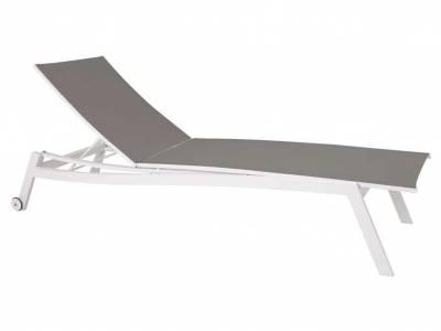 Stern Rollenliege Allround Aluminium weiß mit Bezug Textilen silber
