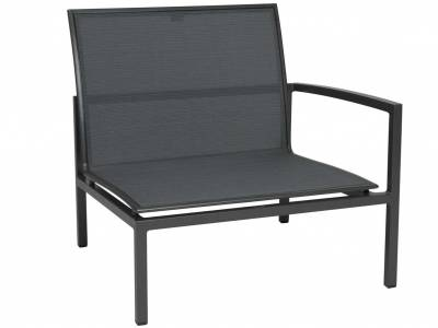 Stern Skelby Lounge-Seitenelement anthrazit mit Textilenbezug karbon