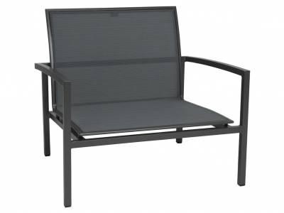 Stern Skelby Lounge-Sessel anthrazit mit Textilenbezug karbon