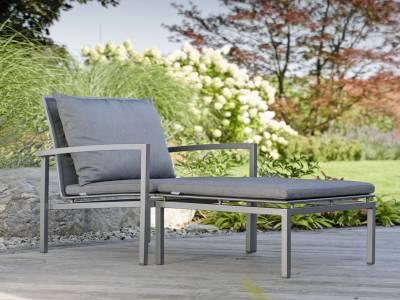 Stern Skelby Lounge-Sessel graphit mit Textilenbezug silbergrau