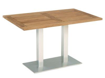 Stern Tisch, Aluminium Edelstahloptik