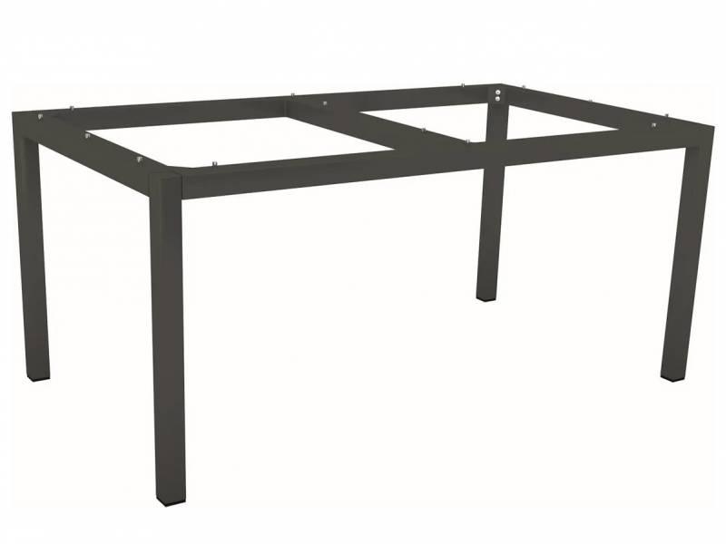 Stern Tischsystem: Alu Tischgestell 130 x 80 cm anthrazit + freiwählbare Tischplatte