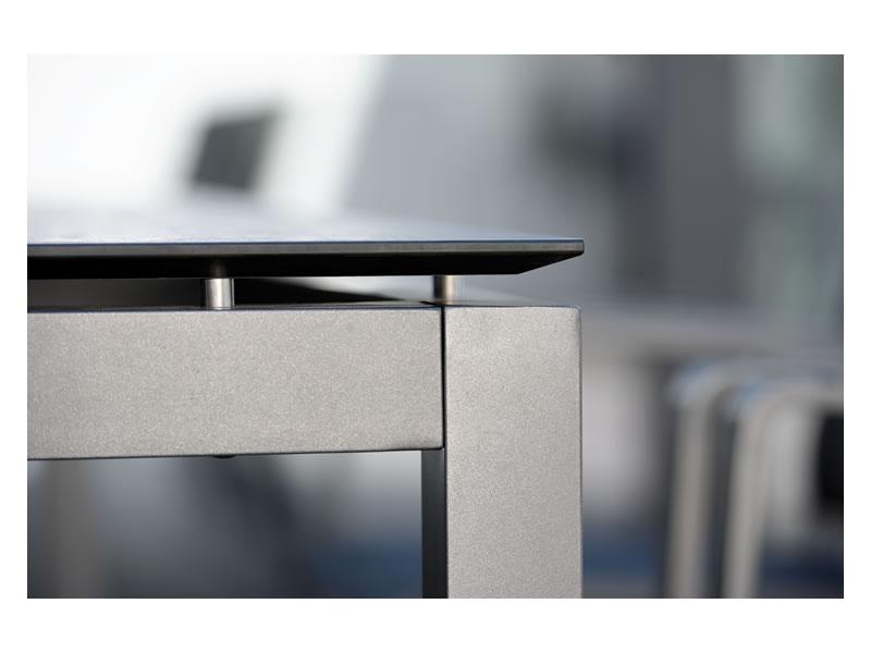 Stern Tischsystem Alu Tischgestell 130 X 80 Cm Graphit